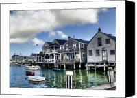 Docks Photo Canvas Prints - Nantucket Harbor in Summer Canvas Print by Tammy Wetzel