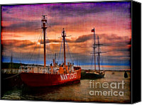 Ocean Digital Art Canvas Prints - Nantucket Lightship Canvas Print by Jeff Breiman