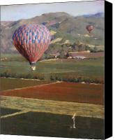 Contry Canvas Prints - Napa Balloon Morning Ride Canvas Print by Takayuki Harada