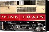 Wine Train Canvas Prints - Napa Valley Railroad Wine Train in Napa California Wine Country . 7D8988 Canvas Print by Wingsdomain Art and Photography