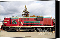 Wine Train Canvas Prints - Napa Valley Railroad Wine Train Locomotive in Napa California Wine Country . 7D8991 Canvas Print by Wingsdomain Art and Photography