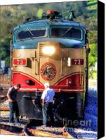 Wine Train Canvas Prints - Napa Valley Wine Train 12 Canvas Print by Mars Lasar