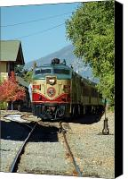 Wine Train Canvas Prints - Napa Valley Wine Train No. 72 Canvas Print by Suzanne Gaff