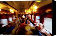 Wine Train Canvas Prints - Napa Wine Train Canvas Print by Jeff Wilson