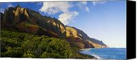Kalalau Canvas Prints - Napali Coast Panorama Canvas Print by Quincy Dein - Printscapes