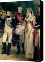 July Canvas Prints - Napoleon Bonaparte Receiving Queen Louisa of Prussia Canvas Print by Nicolas Louis Francois Gosse