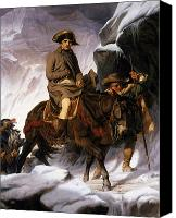 Great Painting Canvas Prints - Napoleon Crossing the Alps Canvas Print by Hippolyte Delaroche