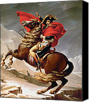 Horseback Canvas Prints - Napoleon Crossing the Alps Canvas Print by Jacques Louis David
