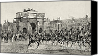 Carrousel Art Canvas Prints - Napoleon Reviewing Calvary, 1810 Canvas Print by Photo Researchers