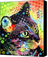 Abstract Cat Portrait Canvas Prints - Nappy Cat Canvas Print by Dean Russo