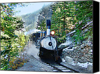 Southern Rocky Mountains Canvas Prints - Narow Gauge Memories Canvas Print by Ken Smith