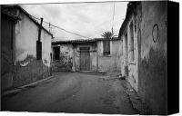 City Streets Photo Canvas Prints - narrow run down city streets in northern nicosia TRNC turkish republic of northern cyprus Canvas Print by Joe Fox