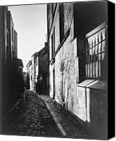 Fine Arts Photography Canvas Prints - Narrow Street, Rue St. Rustique Canvas Print by Everett
