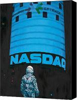 Science Painting Canvas Prints - Nasdaq Canvas Print by Scott Listfield