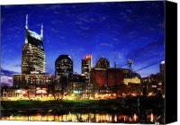 Dean Canvas Prints - Nashville At Twilight Canvas Print by Dean Wittle