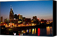 Nashville Skyline Digital Art Canvas Prints - Nashville skyline Canvas Print by Elizabeth Wilson
