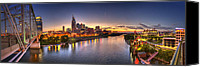 Skyline Canvas Prints - Nashville Skyline Panorama Canvas Print by Brett Engle