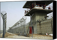Second Gulf War Canvas Prints - Nasiriyah Prison Under Construction Canvas Print by Everett