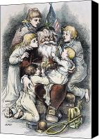 Santa Claus Canvas Prints - Nast: Christmas, 1879 Canvas Print by Granger