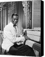 Cole Canvas Prints - Nat King Cole (1919-1965) Canvas Print by Granger