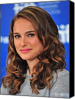 At The Press Conference Canvas Prints - Natalie Portman At The Press Conference Canvas Print by Everett