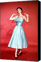 1950s Fashion Canvas Prints - Natalie Wood, 1956 Canvas Print by Everett