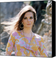 Gold Earrings Photo Canvas Prints - Natalie Wood, Wearing A Pucci Design C Canvas Print by Everett