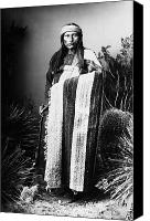 Indian Portrait. Native American.southwest. Canvas Prints - NATCHES (c1856-1919) Canvas Print by Granger