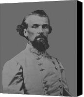 Store Digital Art Canvas Prints - Nathan Bedford Forrest Canvas Print by War Is Hell Store
