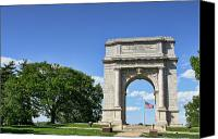Memorial Canvas Prints - National Memorial Arch at Valley Forge Canvas Print by Olivier Le Queinec