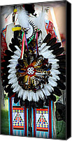 Pow Wow Canvas Prints - Native American Dancer - 2 Canvas Print by Tam Graff