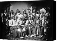 Black Crow Canvas Prints - Native American Delegation, 1877 Canvas Print by Granger