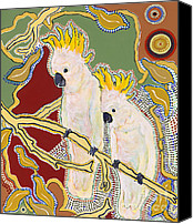 Pat Saunders-white Canvas Prints - Native Aussies Canvas Print by Pat Saunders-White
