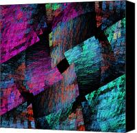 Quilt Pattern Canvas Prints - Native Quilt Abstract Canvas Print by Andee Photography