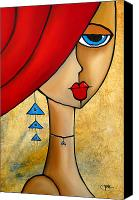 Figurative Canvas Prints - Native Canvas Print by Tom Fedro - Fidostudio