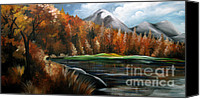 Fine Photography Art Painting Canvas Prints - Nature Beauty 4 Canvas Print by Uma Devi
