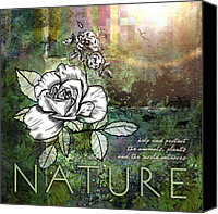 Forest Digital Art Canvas Prints - Nature Canvas Print by Evie Cook