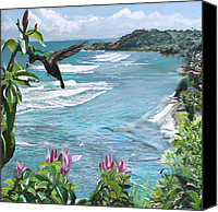 Humming Bird Canvas Prints - Nature isle paradise. Canvas Print by Kelvin James