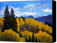 Rocky Mountains Canvas Prints - Natures Patterns - Rocky Mountains Canvas Print by John Lautermilch
