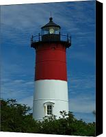 Nauset Beach Canvas Prints - Nauset Beach Lighthouse Canvas Print by Juergen Roth
