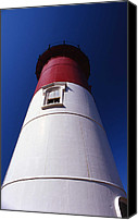 Nauset Beach Canvas Prints - Nauset Beach Lighthouse Canvas Print by Skip Willits