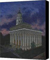 Mormon Painting Canvas Prints - Nauvoo Sunset Canvas Print by Jeff Brimley