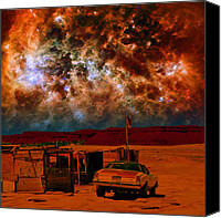 Angry Sky Canvas Prints - Navajo Nation Canvas Print by Gene  Anderson