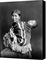 Indian Portrait. Native American.southwest. Canvas Prints - NAVAJO WOMAN & CHILD, c1914 Canvas Print by Granger