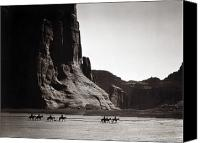 Southwest Canvas Prints - Navajos: Canyon De Chelly, 1904 Canvas Print by Granger