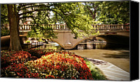 Riverwalk Canvas Prints - Navarro Street Bridge Canvas Print by Steven Sparks
