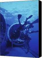 Navy Seals Canvas Prints - Navy Seals Submerge And Lock Back Canvas Print by Michael Wood