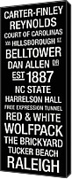 Bus Roll Canvas Prints - NC State College Town Wall Art Canvas Print by Replay Photos
