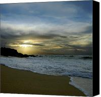 Hawaii Beach Art Canvas Prints - Ne Hoe Ka Leo O Ka Wai Hookipa Canvas Print by Sharon Mau