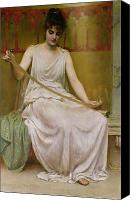 Toga Canvas Prints - Neaera Reading a Letter from Catullus Canvas Print by Henry John Hudson